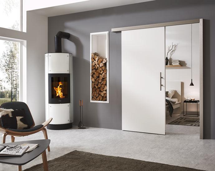 Innentüren | Weißlack-Schiebetür von DANA | Holz Pirner Pommelsbrunn