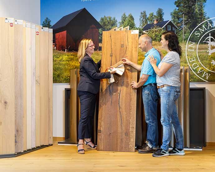 Laminat, Inspiration in der Ausstellung | Holz Pirner GmbH | Pommelsbrunn