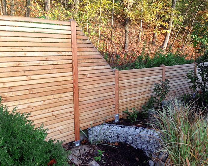 Sichtschutzzaun Rhombus | Holz im Garten | Holz Pirner Pommelsbrunn