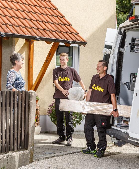 Service Parkett Lieferung, Mitarbeitervorstellung Roland Bär | Holz Pirner GmbH | Pommelsbrunn