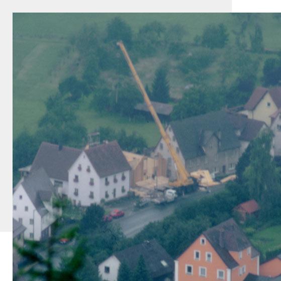 Neubau der Ausstellung im Jahr 1998 | Geschichte | Holz Pirner GmbH, Pommelsbrunn